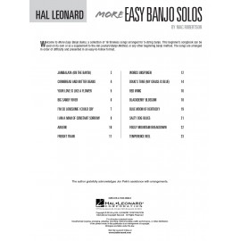 BANJO METHOD HL00699516, MORE EASY NAJO SOLOS