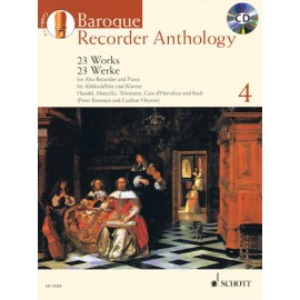 BAROQUE RECORDER ANTHOLOGY ED 13325, 23 WORKS