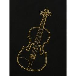 czarna z wyhaftowanym motywem skrzypiec