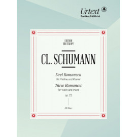 THREE ROMANCES FOR VIOLIN AND PIANO OP.22