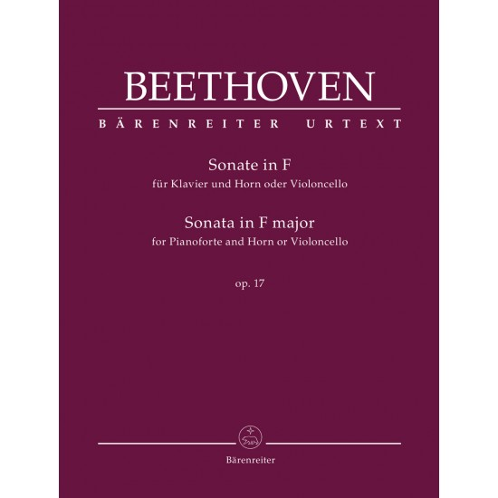 SONATA FOR OIANO AND HORN OR VIOLONCELLO OP.17