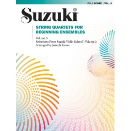 SUZUKI STRING QUARTETS 0283S, FOR BEGINNING ENSEMB