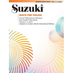 SUZUKI / DUETS FOR VIOLINS / 0093S, PARTIA DRUGICH