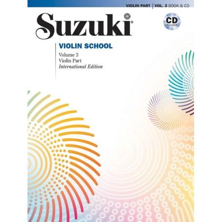 SUZUKI VIOLIN SCHOOL, VIOLIN PART VOL. 3 + CD