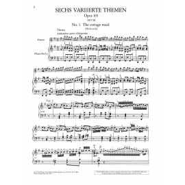 VARIATIONS ON FOLKSONGS OPP. 105, 107 FOR PIANO &