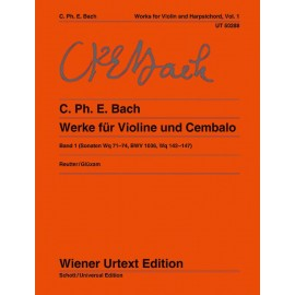 BACH C.PH.E. UT50288, WORKS FOR VIOLIN AND HARPSIC