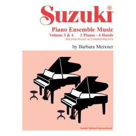 SUZUKI PIANO ENSAMBLE MUSIC VOL.3 & 4
