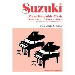 SUZUKI PIANO ENSAMBLE MUSIC VOL.3 & 4
