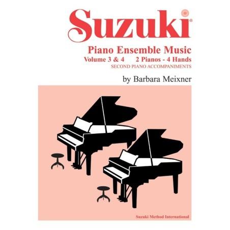 SUZUKI PIANO ENSAMBLE MUSIC VOL. 3 & 4