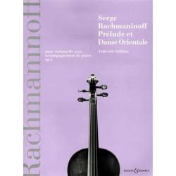 PRELUDE ET DANSE ORIENTALE OP.2 FOR CELLO & PIANO