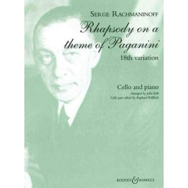 RHAPSODY ON A THEME OF PAGANINI ARR. FOR CELLO & P