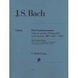 THREE GAMBA SONATAS (VIOLONCELO & HARPSICHORD BWV
