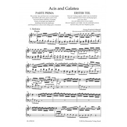 ACIS AND GALATEA / VOCAL SCORE