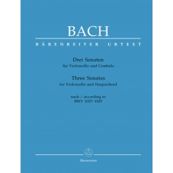 3 SONATY BWV 1027-1029 NA VC I KLAWESYN
