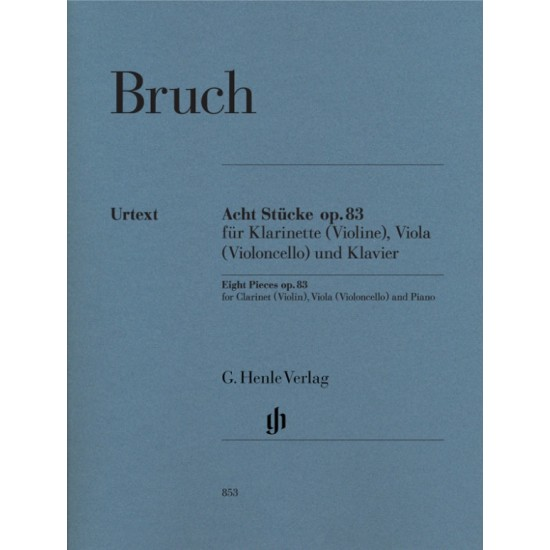 ACHT STUCKE OP.83 FOR CLARINET (VIOLA) VIOLINO (VI
