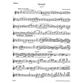 SEXTET IN B-FLAT MAJOR  OP.18 / PARTS