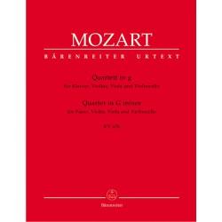 QUARTET FOR PIANO, VIOLIN, VIOLA & VIOLONCELLO KV