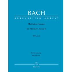 BACH J.S.  BA 5038A, MATTHAUS-PASSION / VOCAL SCOR