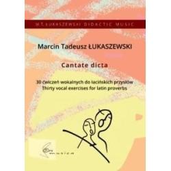 CANTATE DICTA 30 ćwiczeń wokalnych do łacińskich p