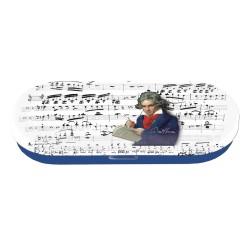 Metalowe etui na okulary, motyw Beethoven
