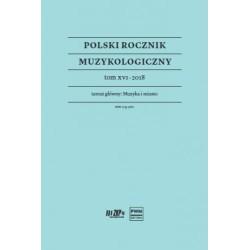 POLSKI ROCZNIK MUZYKOLOGICZNY TOM.XVI